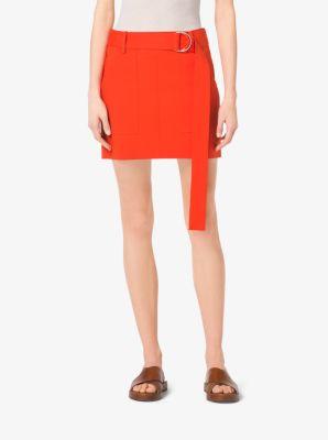 Cotton-Broadcloth Mini Skirt by Michael Kors