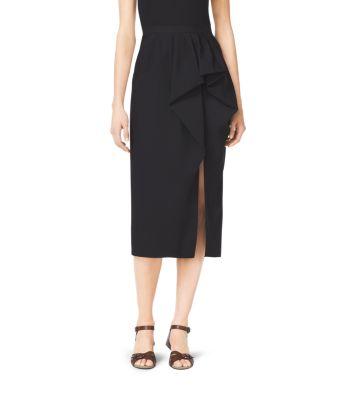 Wool Gabardine Sarong Skirt by Michael Kors