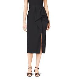 Wool Gabardine Sarong Skirt