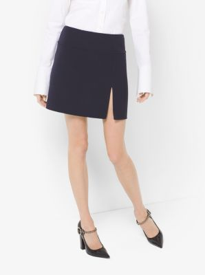 Crepe-Broadcloth Slit Skirt by Michael Kors