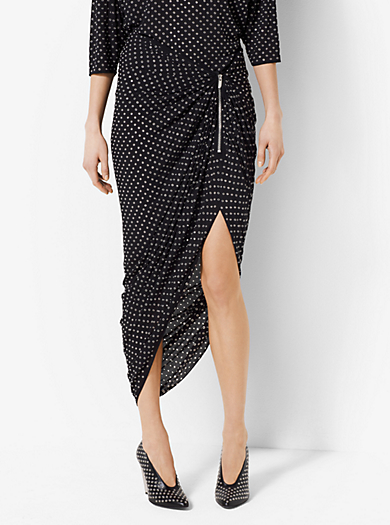 Grommeted Silk-Georgette Sarong by Michael Kors