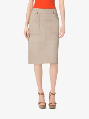Suede Utility Skirt by Michael Kors