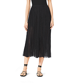 Pleated Silk-Plissé Skirt
