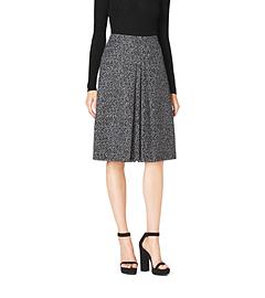 Herringbone Jacquard Wool A-Line Skirt