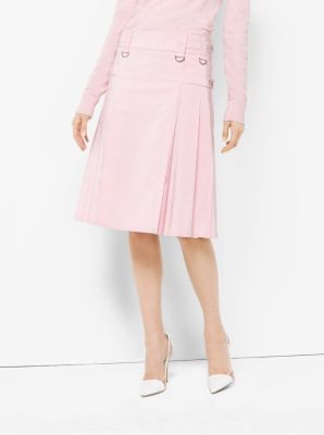 Washed Silk and Cotton-Faille Utility Kilt  by Michael Kors
