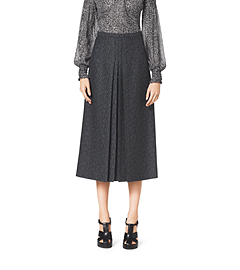 HerringbOne Jacquard Wool Skirt
