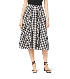 Gingham Cotton Skirt