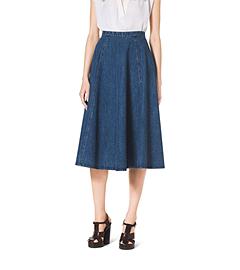 Chambray Flare Skirt