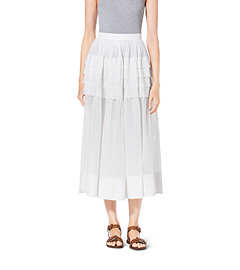 Tiered Cotton-Organdy Maxi Skirt