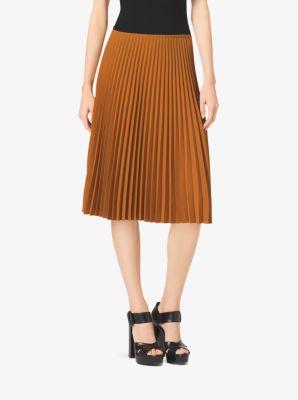 Pleated Georgette Skirt by Michael Kors