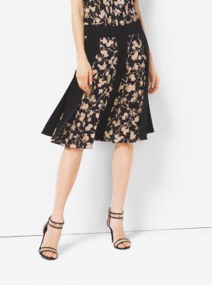 Floral Silk-Georgette Streamer Skirt by Michael Kors