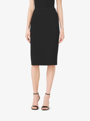 Stretch-Wool Gabardine Pencil Skirt by Michael Kors