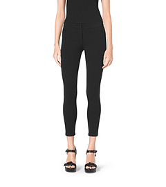Stretch Cotton-Twill Leggings