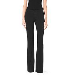 Stretch Wool-Gabardine Flare Pants