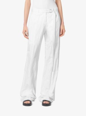 Crushed-Cotton Trousers by Michael Kors