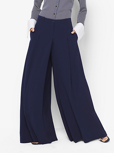Pantaloni palazzo in serge di lana by Michael Kors