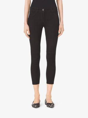 Stretch-Suede Skinny Jeans by Michael Kors