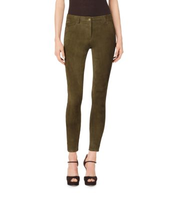 Stretch-Suede Leggings by Michael Kors