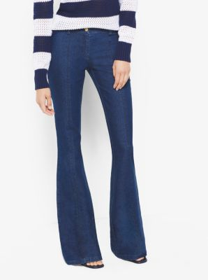 Seamed Flared Jeans by Michael Kors