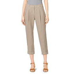 Hemp Linen Capri Trousers