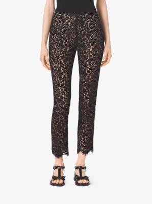 Floral Lace Cotton Pants by Michael Kors
