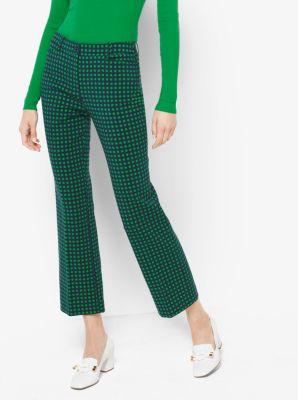 Polka Dot Cropped Stretch-Wool Pants by Michael Kors