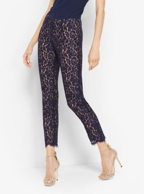 Floral Lace Cropped Pants by Michael Kors