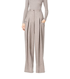 Palazzo Wool and Cashmere Pants