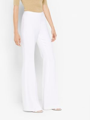 Flared Crepe Trousers by Michael Kors