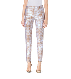 Eyelet Silk-Jacquard Pants
