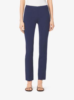 Side-Zip Wool-Crepe Pants by Michael Kors