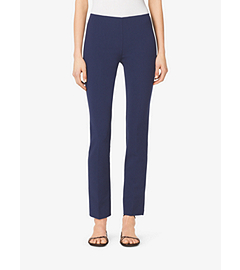 Side-Zip Wool-Crepe Pants