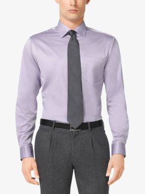 Slim-Fit Cotton-Twill Dress Shirt by Michael Kors