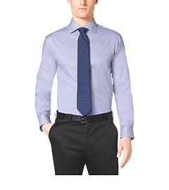 Bengal Stripe Cotton-Twill Dress Shirt