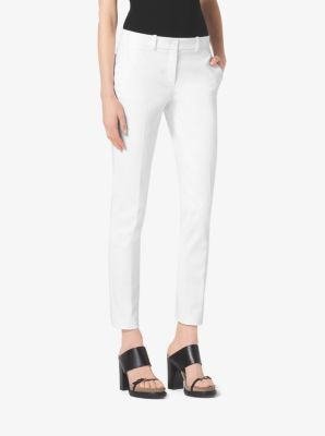 Samantha Stretch-Cotton Skinny Pants by Michael Kors