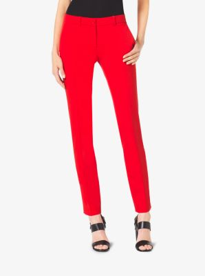 Samantha Wool-Gabardine Skinny Pants by Michael Kors
