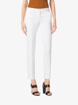 Samantha Wool-Gabardine Skinny Pants  by Michael Kors