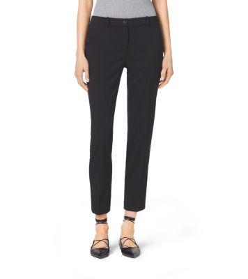 Samantha Stretch Wool Gabardine Pants by Michael Kors