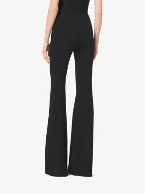 Flared Stretch Wool-Crepe Trousers by Michael Kors