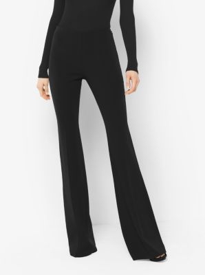 Flared Stretch-Wool Trousers by Michael Kors