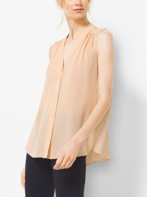 Silk-Georgette Blouse by Michael Kors