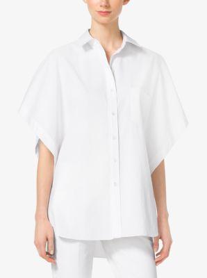 Cotton-Poplin Tunic by Michael Kors
