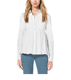 Stretch-Cotton Empire-Waist Shirt