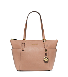 Jet Set Top-Zip Saffiano Leather Tote by Michael Kors