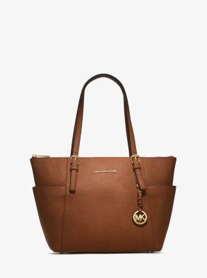 $198.4 MICHAEL MICHAEL KORS  Jet Set Top-Zip Saffiano Leather Tote