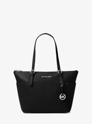 마이클 마이클 코어스 Michael Michael Kors Jet Set Saffiano Leather Top-Zip Tote Bag