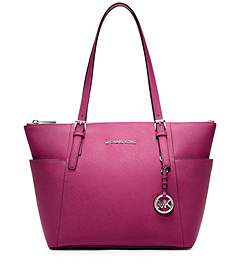 Jet Set Top-Zip Saffiano Leather Tote