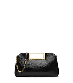 Berkley Patent-Leather Large Clutch