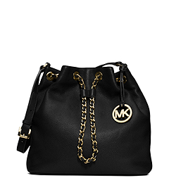 Frankie Drawstring Leather Shoulder Bag
