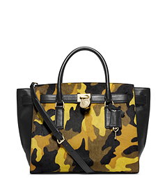 Hamilton Traveler Camouflage Hair Calf Satchel